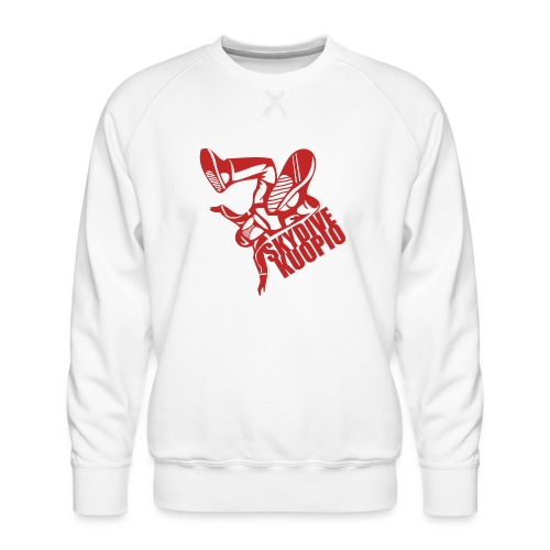 KLU logo red - Miesten premium-collegepaita