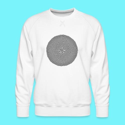 Fibonacci web with spirals - Men's Premium Sweatshirt