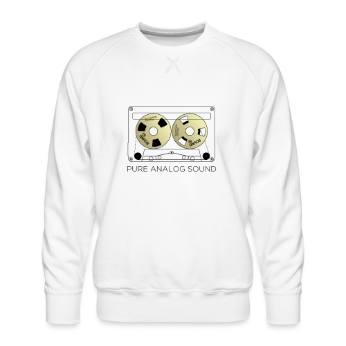 Reel gold cassette white - Men's Premium Sweatshirt