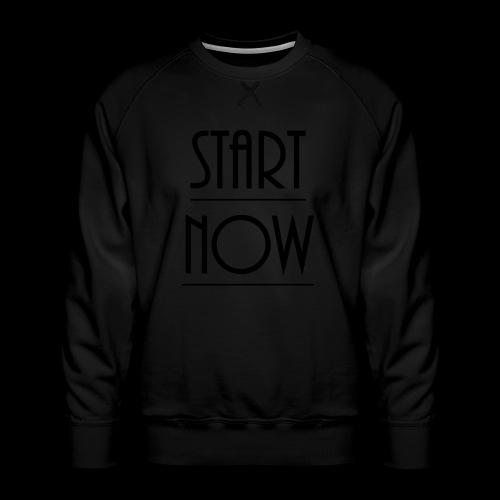 start now - Männer Premium Pullover