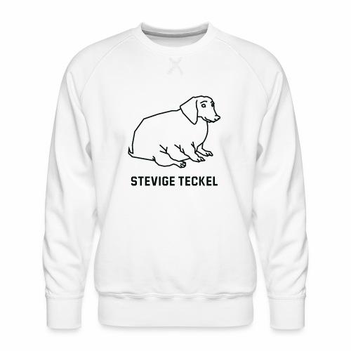 Stevige Teckel - Mannen premium sweater