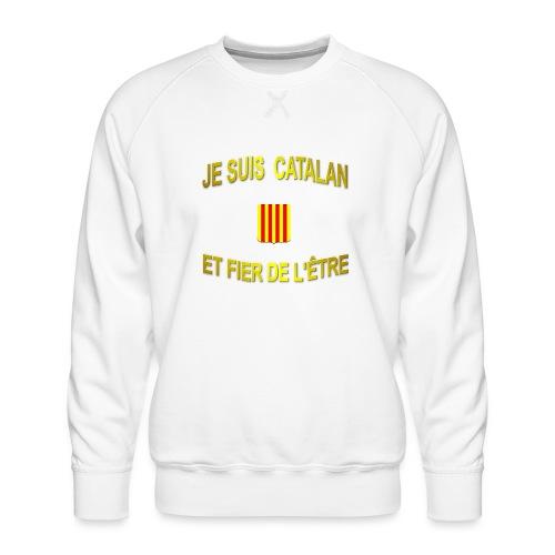 Dessous de verre à l'emblème du PAYS CATALAN - Sweat ras-du-cou Premium Homme