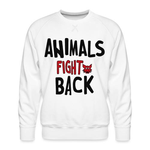 Animals fight back - Felpa premium da uomo