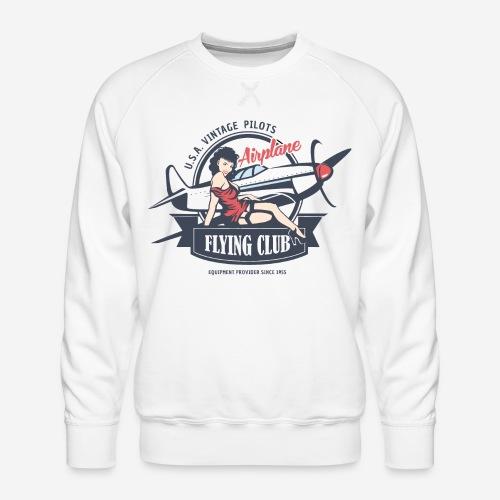 Retro Vintage Flugzeug Club fliegen - Männer Premium Pullover