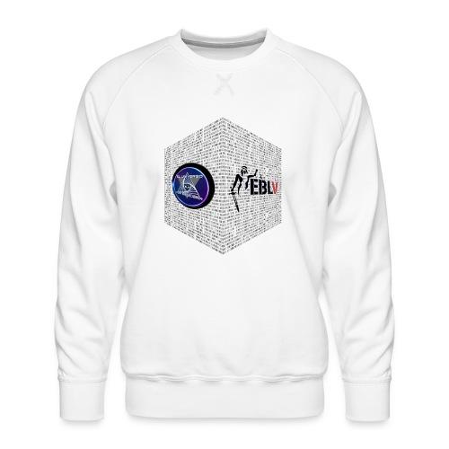 disen o dos canales cubo binario logos delante - Men's Premium Sweatshirt