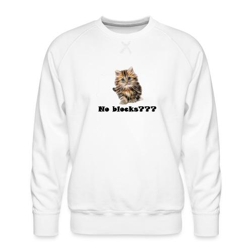 No block kitten - Premium-genser for menn