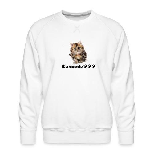 Concede kitty - Premium-genser for menn