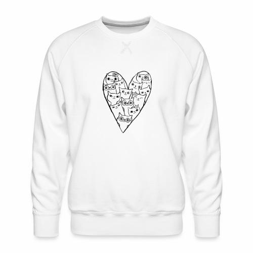 I Love Cats - Men's Premium Sweatshirt