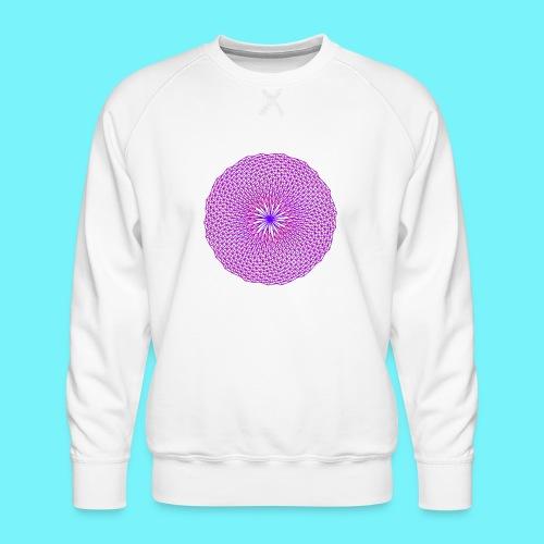 Fibonacci image with 4 fibonacci spirals - Men's Premium Sweatshirt