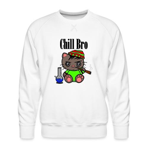 Chill Bro Katze - Männer Premium Pullover