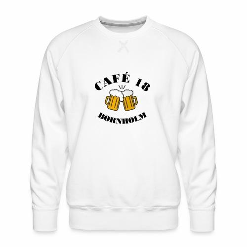 Café 18 Logo 2020 - Herre premium sweatshirt
