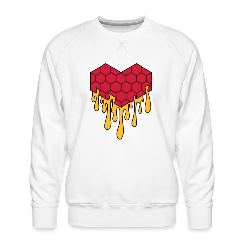 Honey heart cuore miele radeo - Felpa premium da uomo