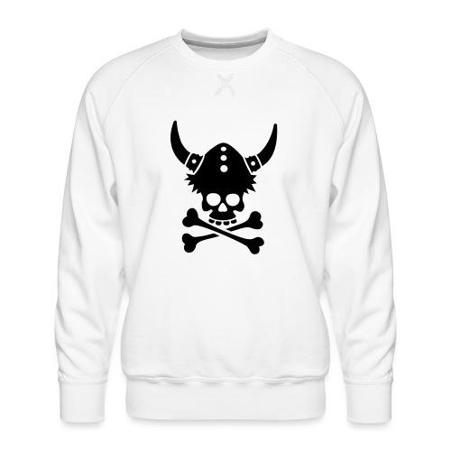 Totenkopf mit Wikingerhelm - Männer Premium Pullover