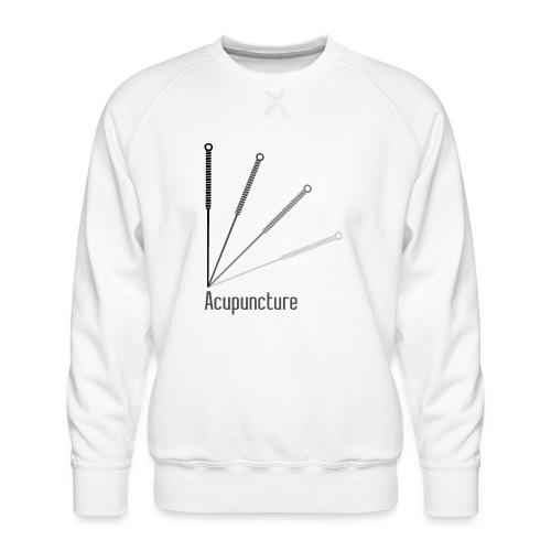 Acupuncture Eventail (logo noir) - Sweat ras-du-cou Premium Homme