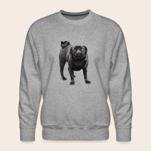 schwarzer Mops - Männer Premium Pullover