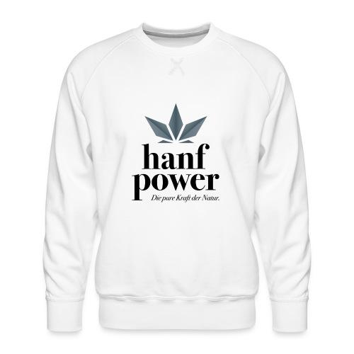 Hanf Power Logo - Männer Premium Pullover