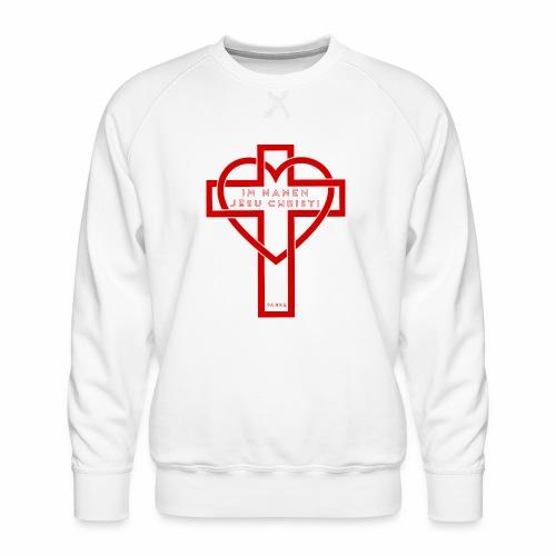 Im Namen JESU CHRISTI - rot - Männer Premium Pullover