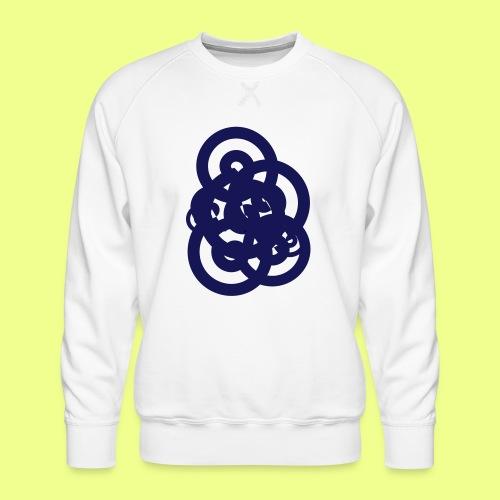 espirales azul - Sudadera premium para hombre