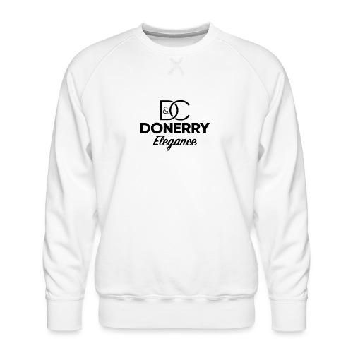 Donerry Elegance Black Logo on White - Men's Premium Sweatshirt