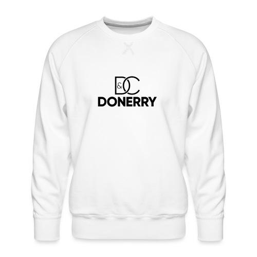 DONERRY Black Logo on White - Men's Premium Sweatshirt