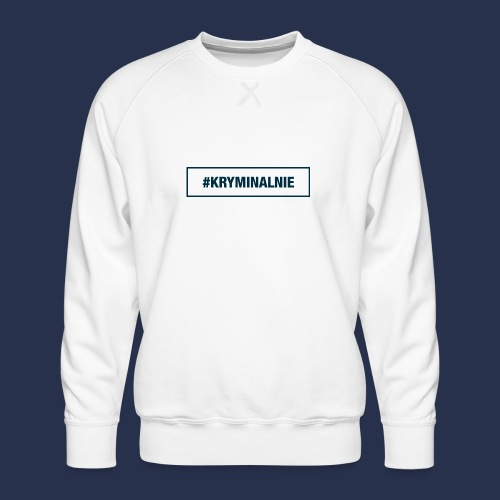 #KRYMINALNIE - logo ciemne - Bluza męska Premium