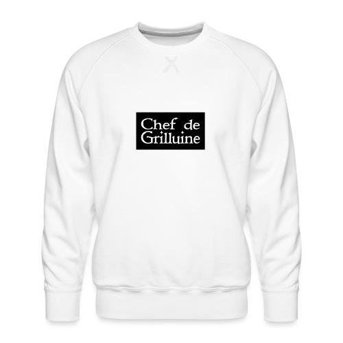 Chef de Grilluine - der Chef am Grill - Männer Premium Pullover
