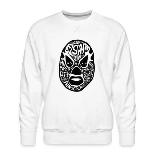 luchador mask2 - Mannen premium sweater