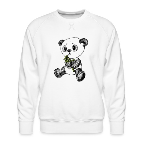 Panda Karhu värillinen scribblesirii - Miesten premium-collegepaita