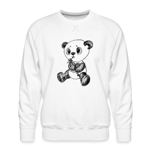 Panda Karhu musta scribblesirii - Miesten premium-collegepaita