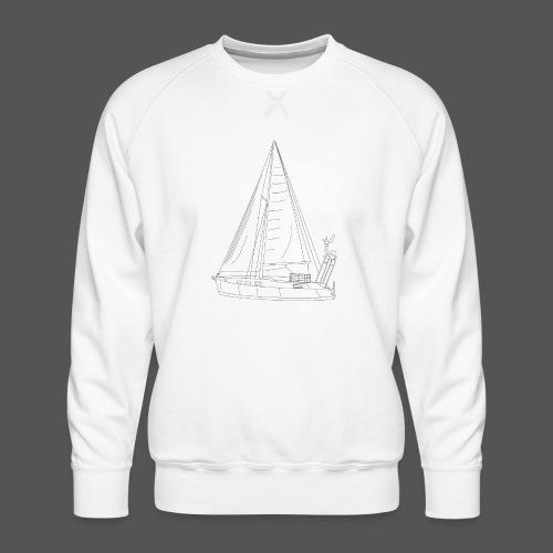 Zeichnung Segelboot Segel hoch - Männer Premium Pullover