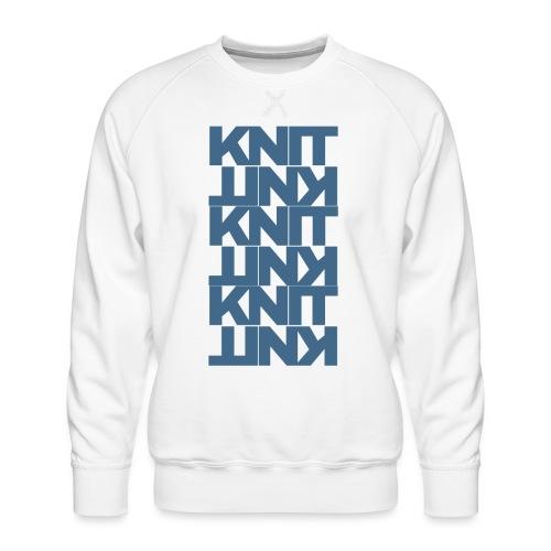Garter Stitch, dark - Men's Premium Sweatshirt