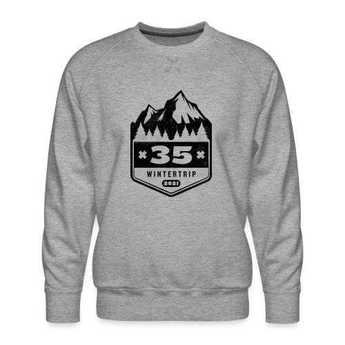35 ✕ WINTERTRIP ✕ 2021 • BLACK - Mannen premium sweater
