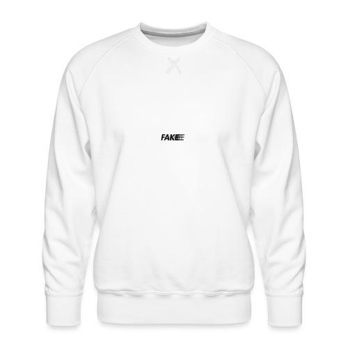 fake logo corruped - Felpa premium da uomo