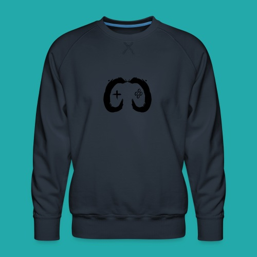 Crowd Control Controller Logo Black Large - Men's Premium Sweatshirt
