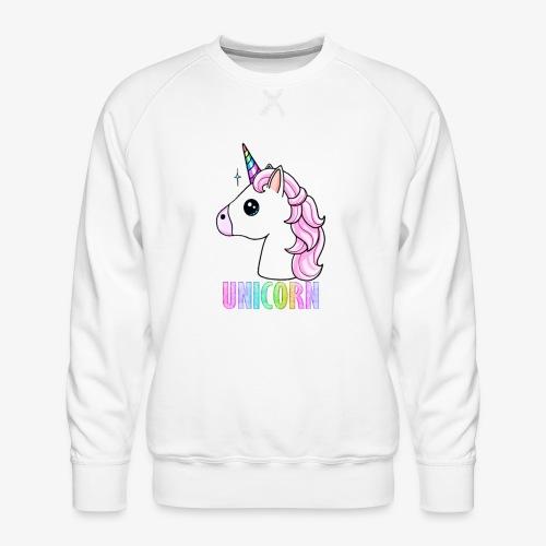 Unicorn - Felpa premium da uomo