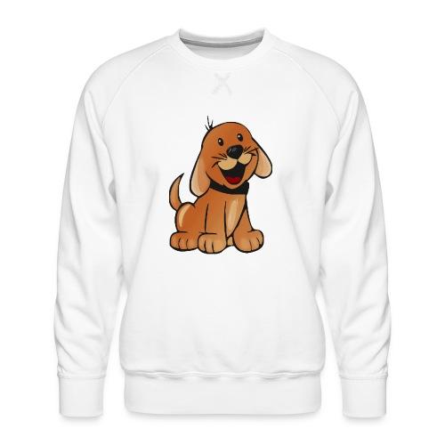 cartoon dog - Felpa premium da uomo