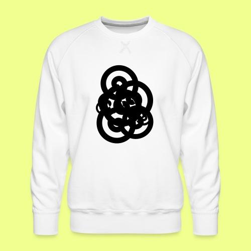 espirales negras - Sudadera premium para hombre
