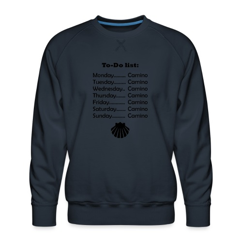 To-do list: Camino - Herre premium sweatshirt