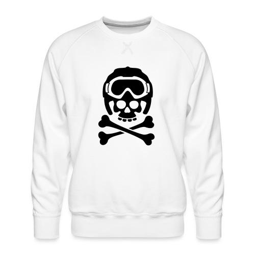 snowboard totenkopf1 - Männer Premium Pullover