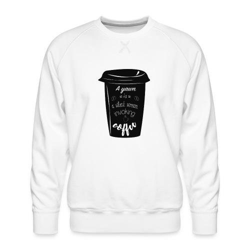 Coffee - Felpa premium da uomo