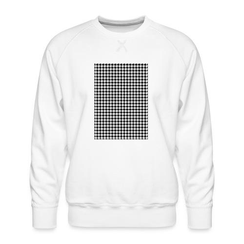 pied de poule v12 final01 - Mannen premium sweater