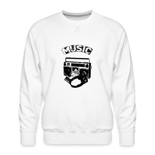 musik1 - Herre premium sweatshirt