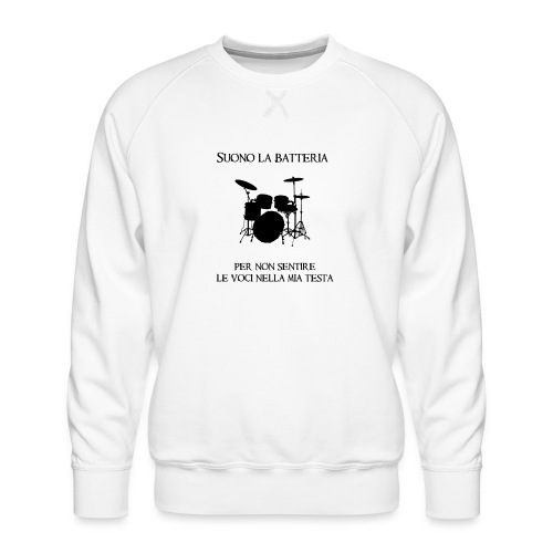 Batterista - Felpa premium da uomo