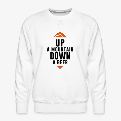 UP Mountain Down Beer - Sweat ras-du-cou Premium Homme
