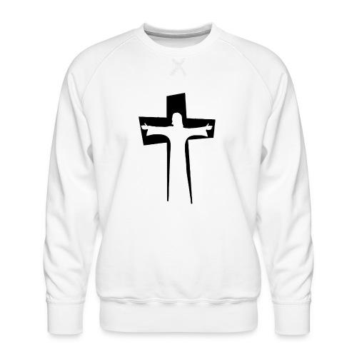 Abstrakt Jesus på korset - Premiumtröja herr