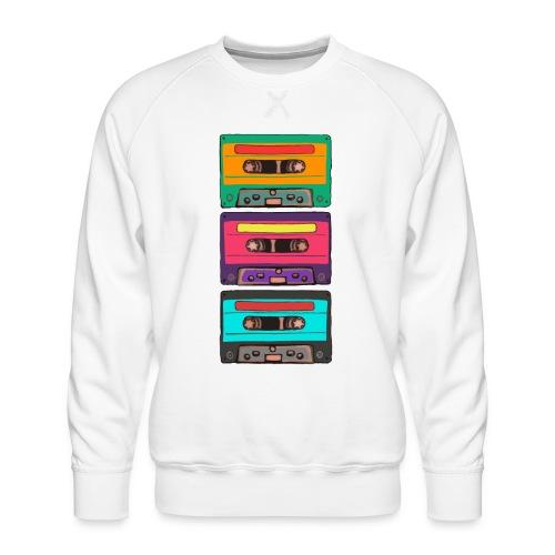 Colorful Cassettes row - Premiumtröja herr