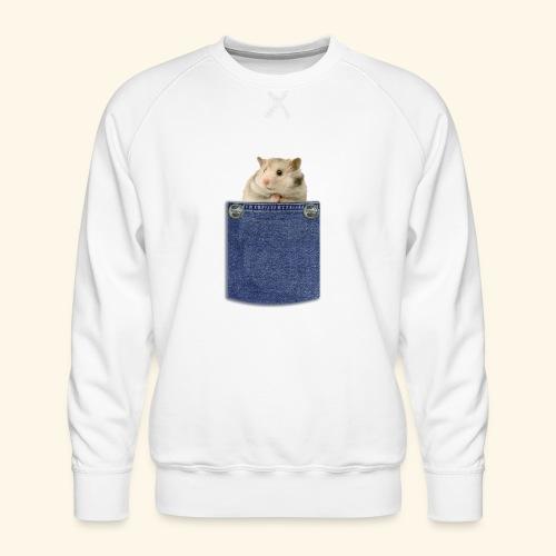 hamster in the poket - Felpa premium da uomo