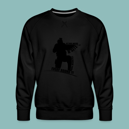 I'd rush you - Black Version - Männer Premium Pullover