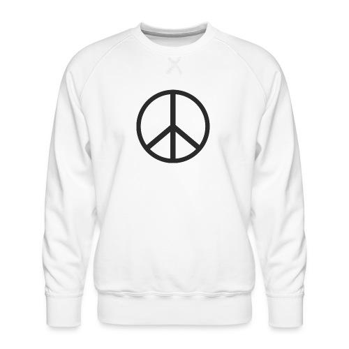 Símbolo de la paz negro - Sudadera premium para hombre