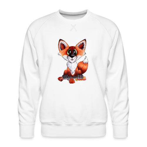 llwynogyn - a little red fox - Männer Premium Pullover
